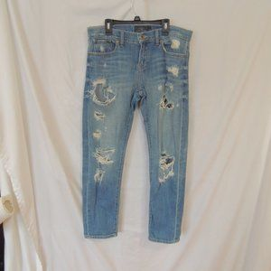 Lucky Brand Sienna Cigarette Mid Rise Distressed D